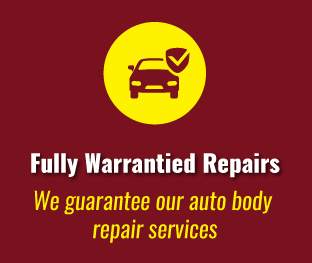Fully Warrantied Repairs - We guarantee our auto body repair services